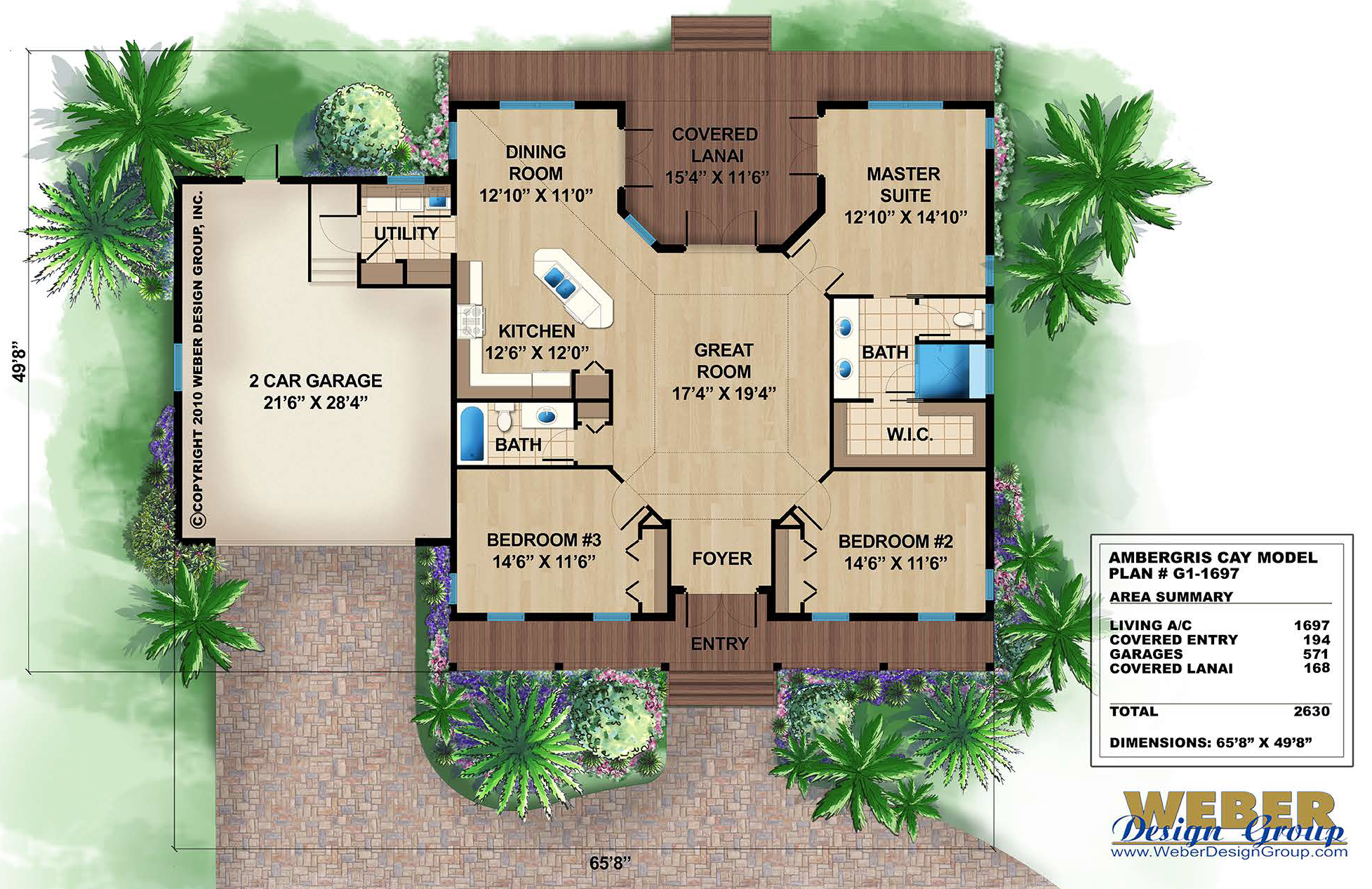 Caribbean house plans tropical island style beach home for House plans for florida homes