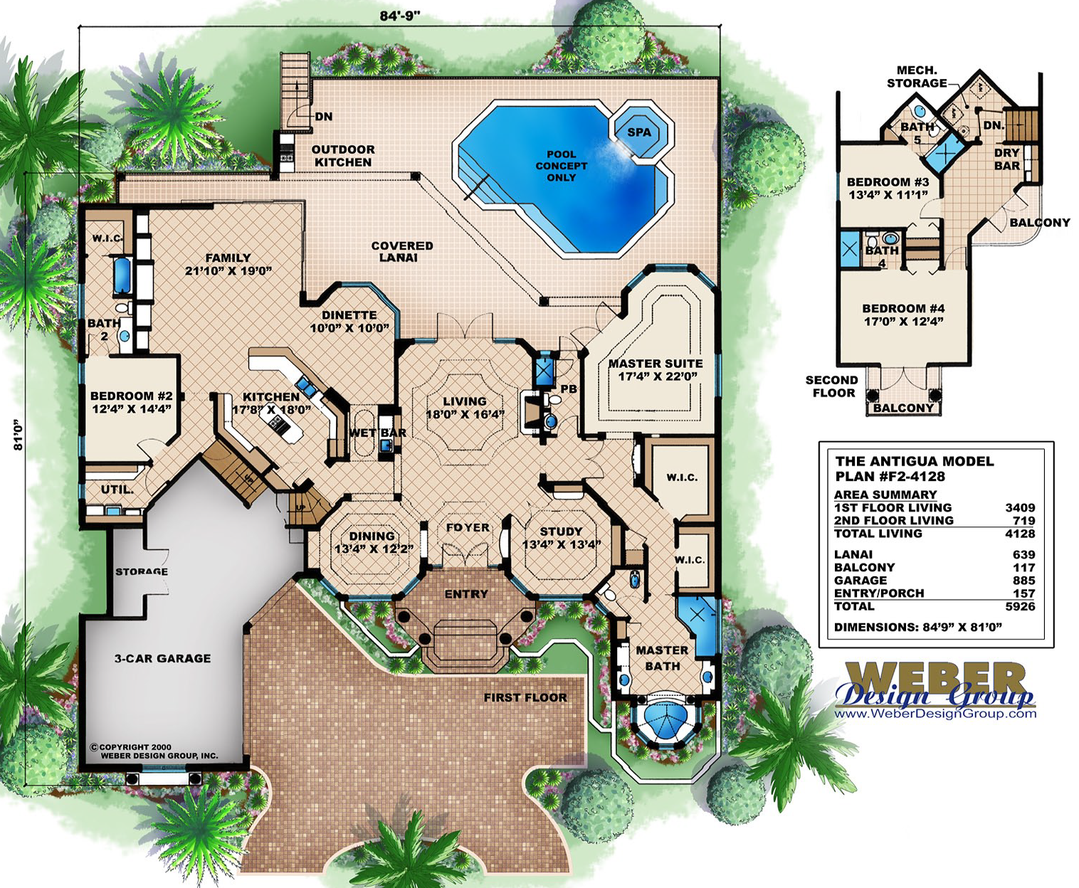 Mediterranean House Plans Luxury Mediterranean Style Home Floor Plans