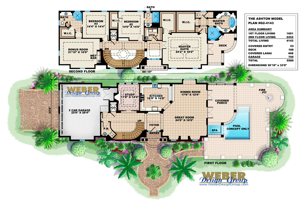 House Plans With Pools Modern Home Swimming Pool See Photos