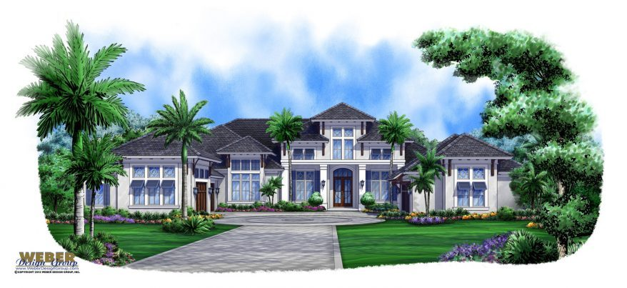 beach golf course house plan caribbean west indies 878x403