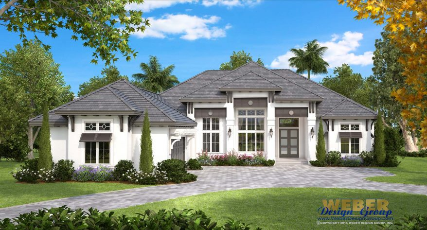 Beach house plan coastal west indies style home floor plan for West indies home plans