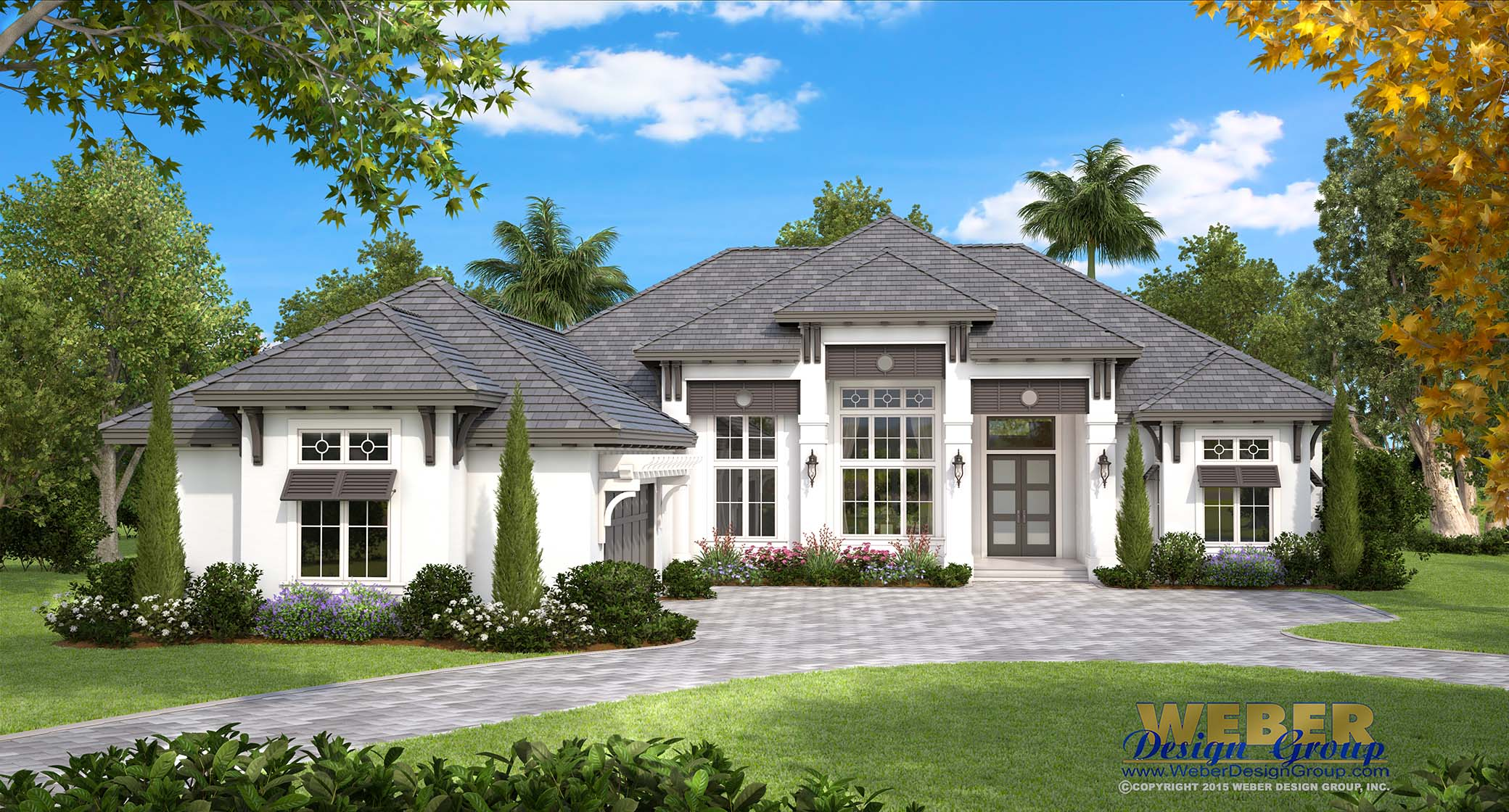Beach house plan coastal west indies style home floor plan this single story island inspired west indies house plan provides just over 4000 square feet of living space with four bedrooms four full baths malvernweather Gallery