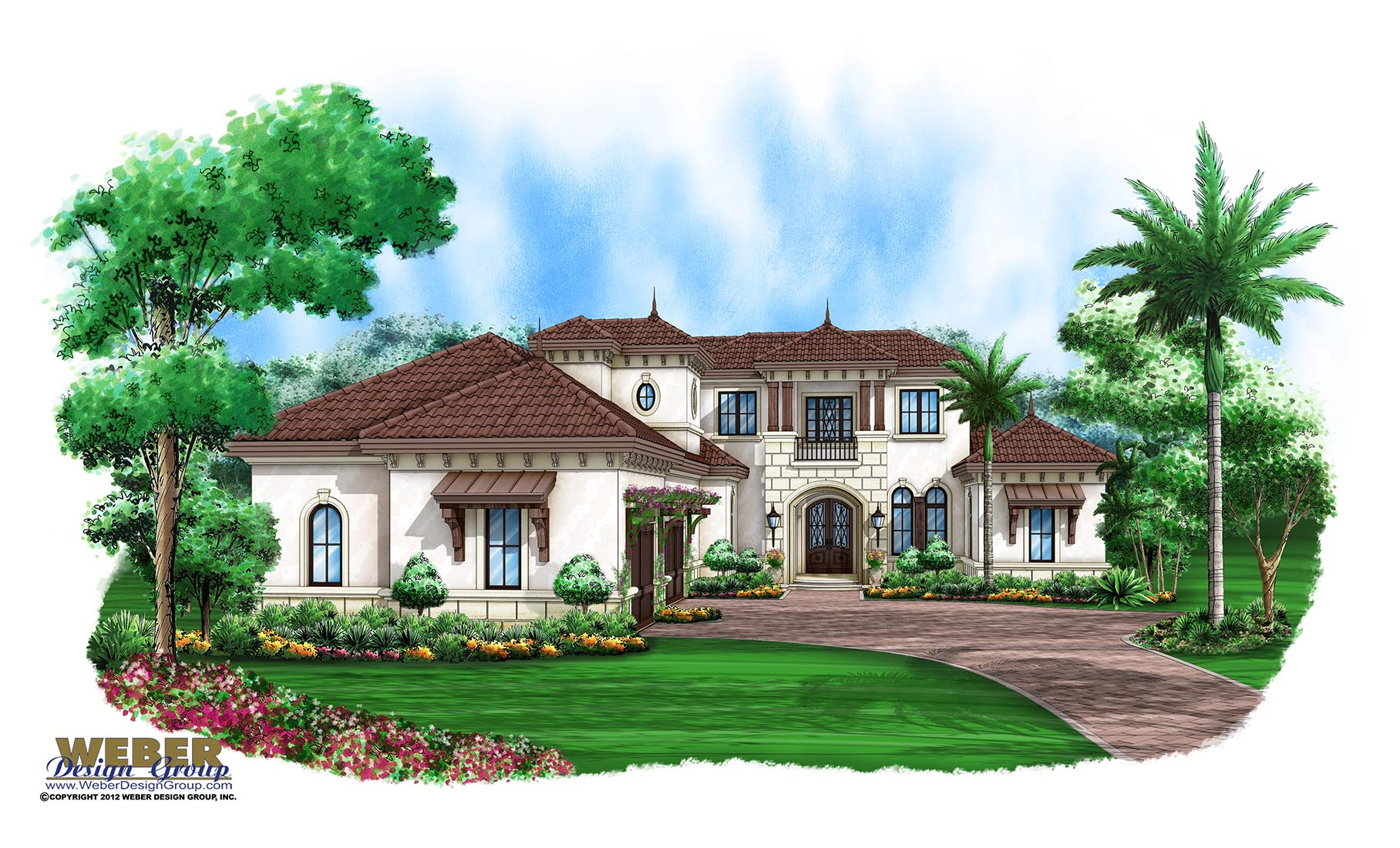 Beach house plan luxury mediterranean coastal home floor plan for Florida house designs