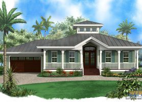 ambergris cay house plan - Waterfront House Plans