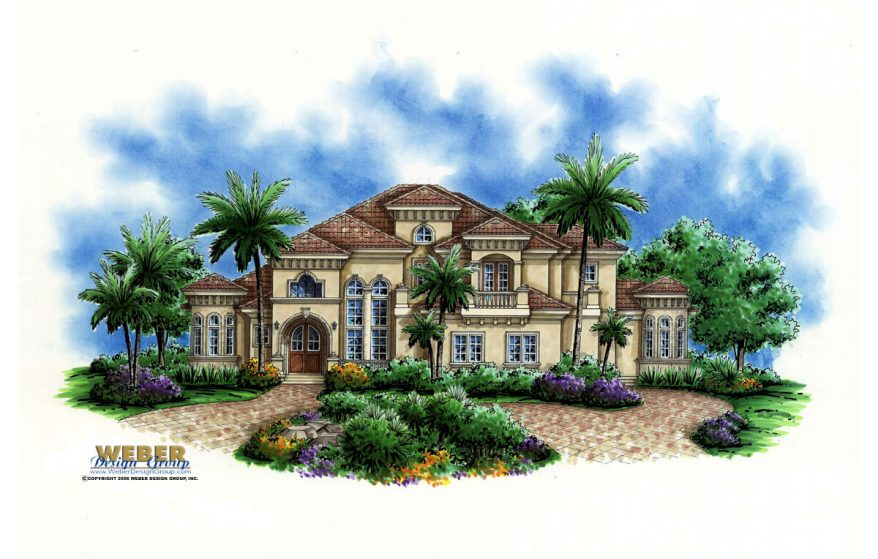 Mediterranean House Plan Beach Or