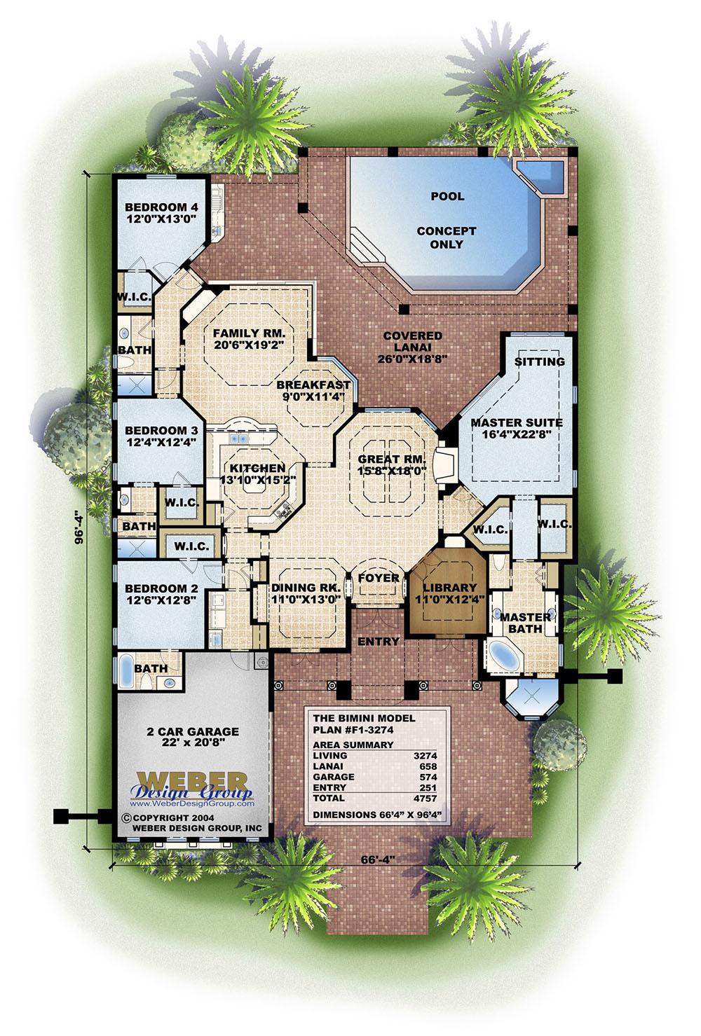 Bimini house plan weber design group for Weber design group