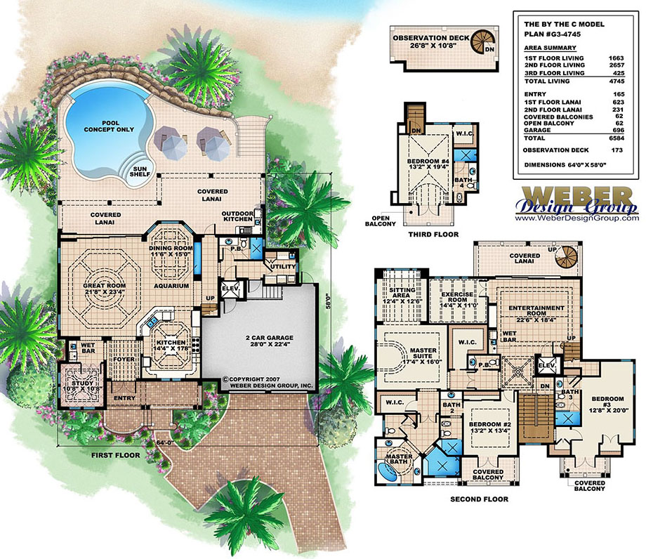 Beach House Plan: 3 Story Tropical Caribbean Beach Home ... on double split master floor plans, two master suites plans, master bedroom with bathroom plans, master bedroom floor plans, double wide mobile home carports, ranch bunkhouse plans, heather gardens floor plans, double porch house plans, double fireplace house plans, 16x70 mobile home floor plans, double wide mobile home doors, twin mastersuite house plans, double master home plans, multi-generational homes floor plans, double master house plans, bedroom design plans, double deck house plans, bedroom suite plans, cute 2 bedroom home plans, champion mobile home floor plans,