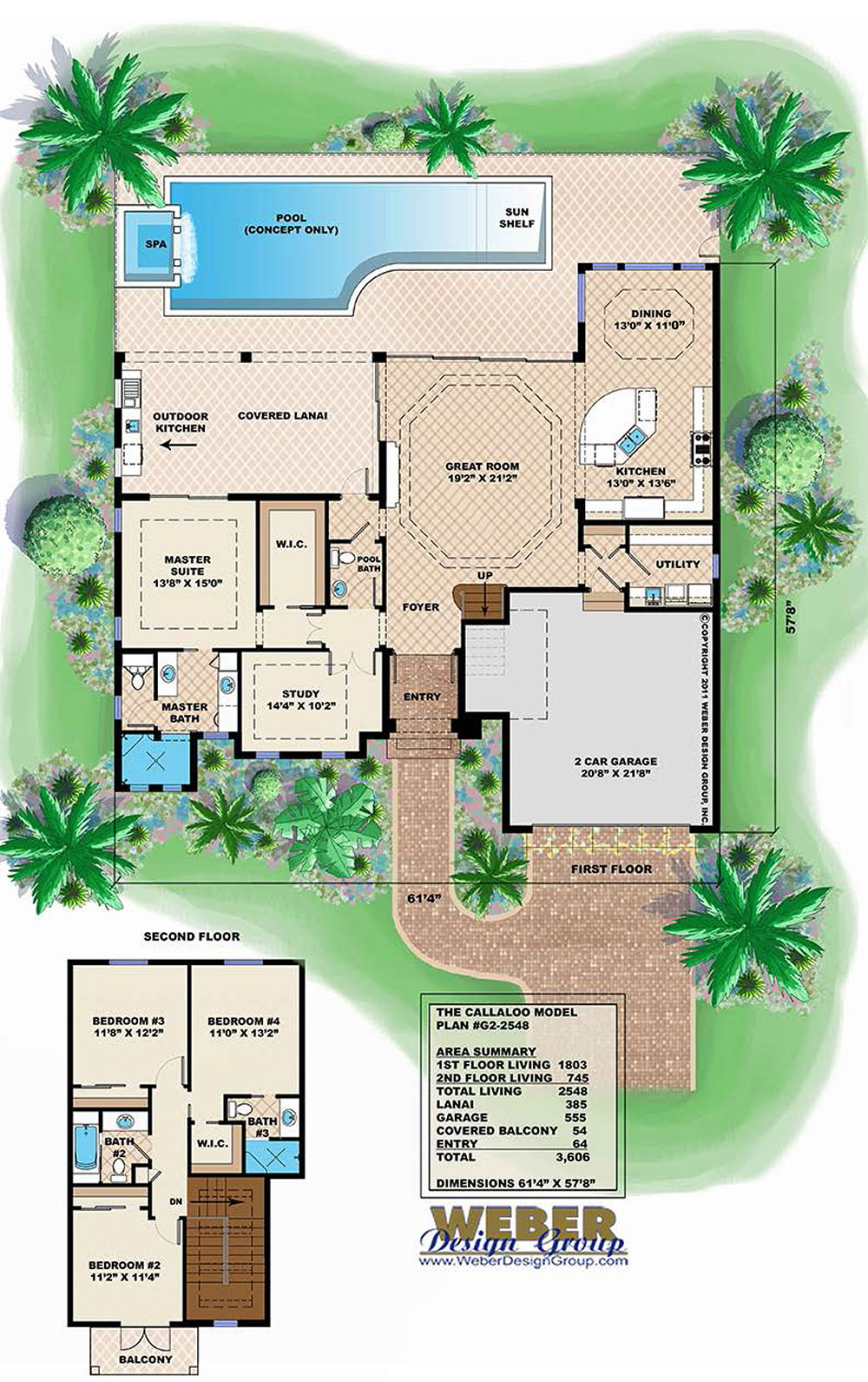 Caribbean breeze house plan weber design group for Weber house plans