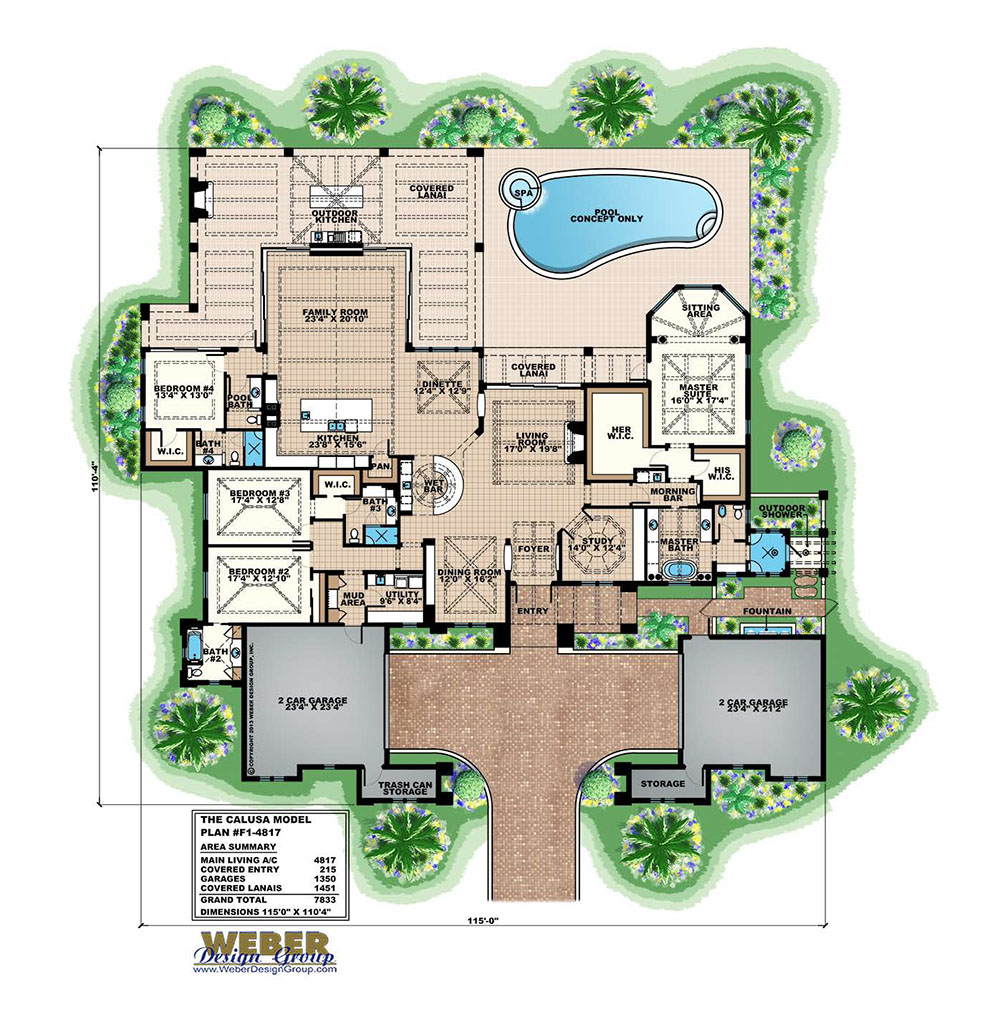 Catalina home plan weber design group for Weber design