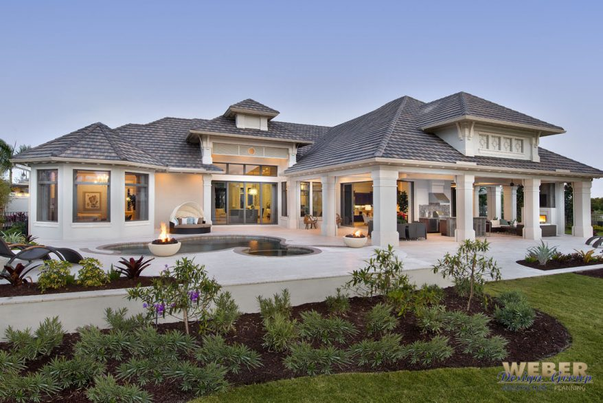 Beach golf course house plan designed for waterfront views Golf course house plans