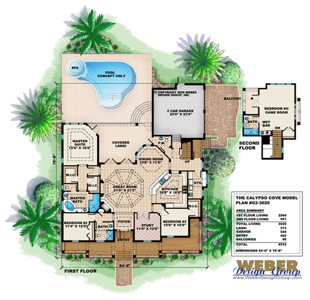 Calypso Cove Home Plan Weber Design Group