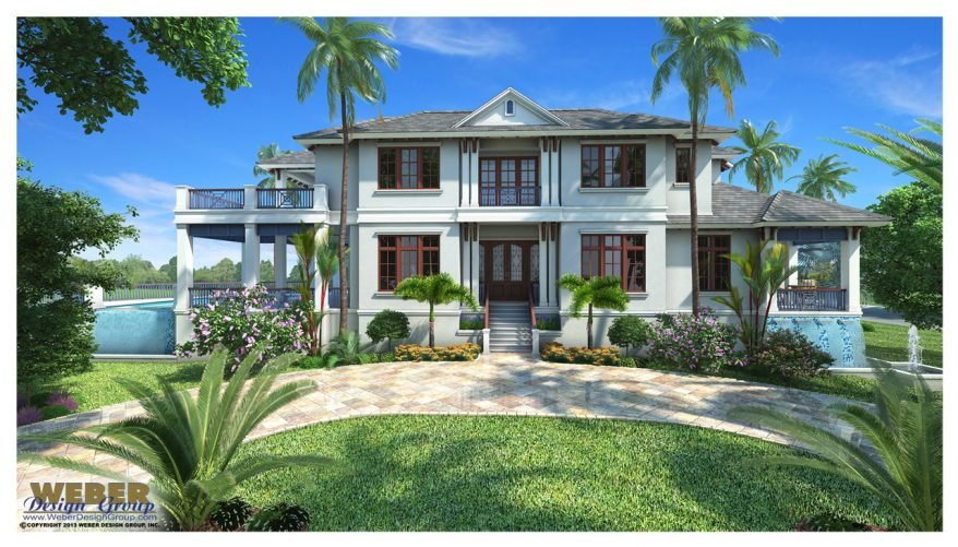 Caribbean house plan contemporary luxury beach home floor for Caribbean house plans