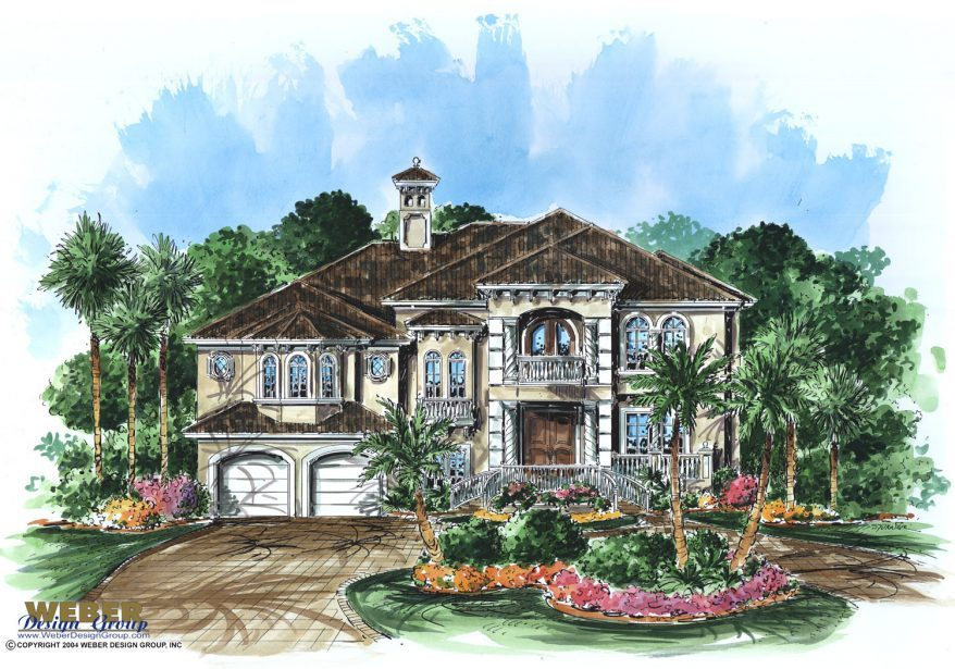 Beach house plan 2 story caribbean island coastal home for Caribbean home plans