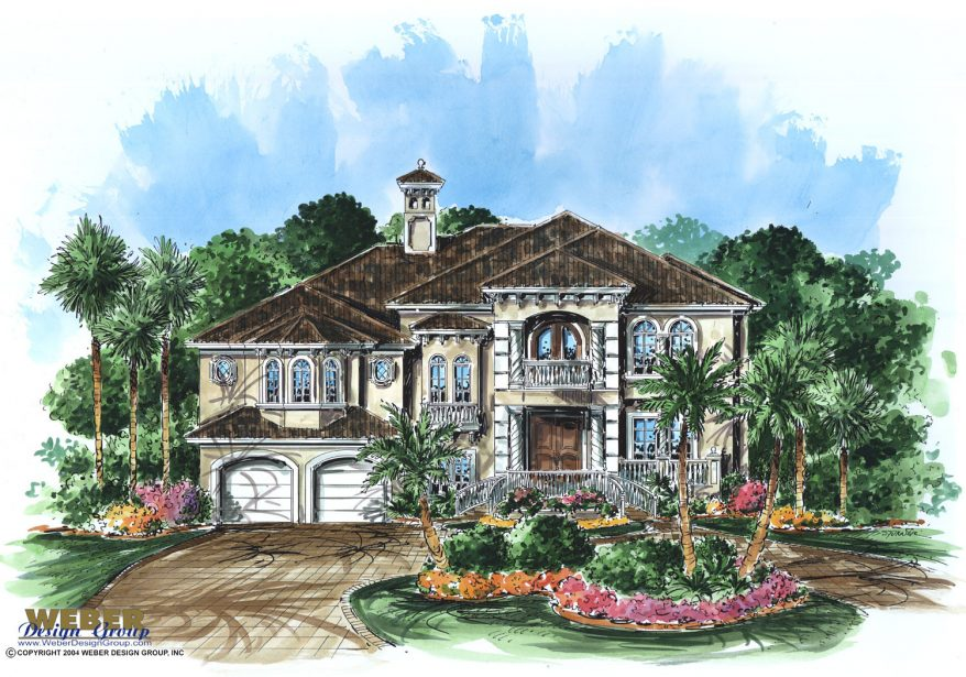 Caribbean house plan 2 story floor plan with for Caribbean home designs