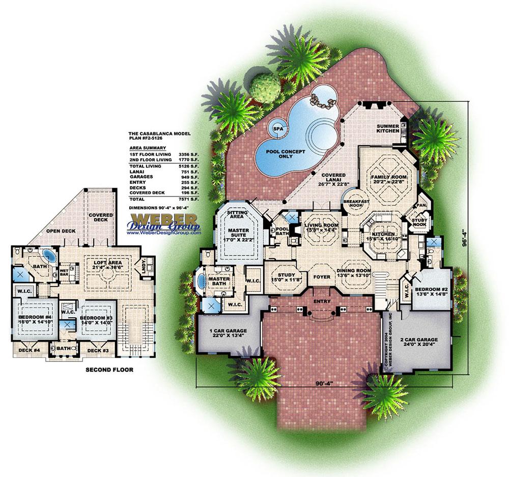casablanca house plan weber design group