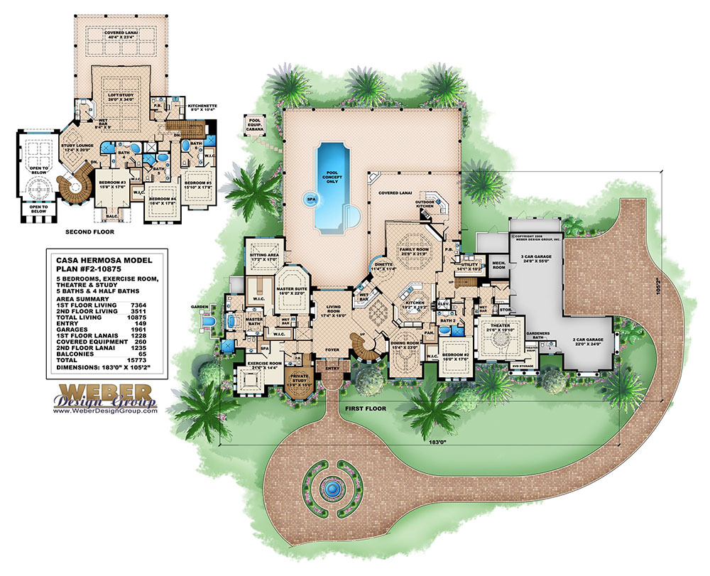 Mediterranean house plan mediterranean tuscan mansion for Weber design