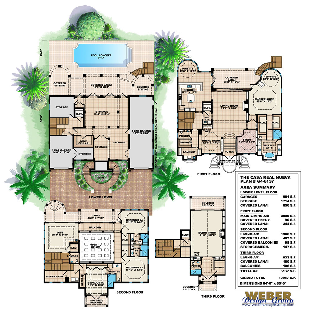 Casa real nueva house plan weber design group naples fl for Weber design