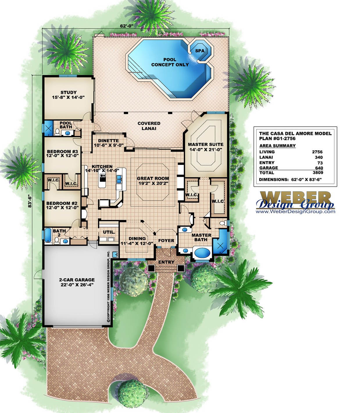 Golf course floor plans Golf course house plans