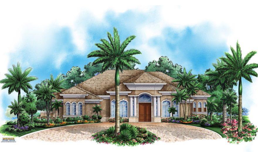 Mediterranean House Plan Coastal Mediterranean Style Home Floor Plan – Coastal Style Home Floor Plans