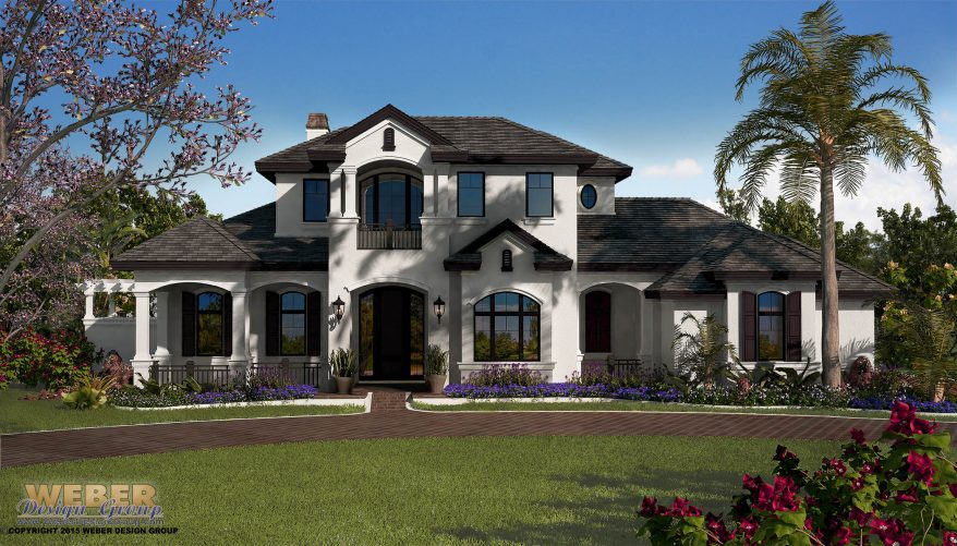 Country house plan french country home plan with for Mediterranean country house