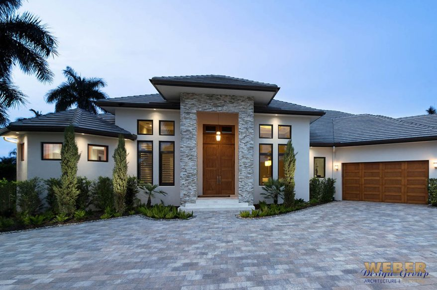 Contemporary House Plan 1 Story Coastal Contemporary Floor Plan