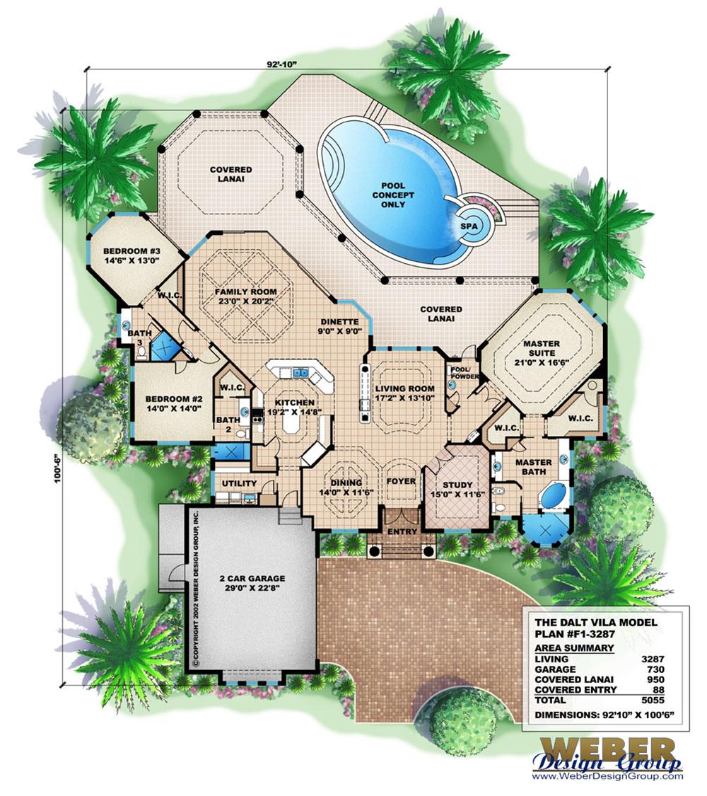 dalt vila house plan weber design group