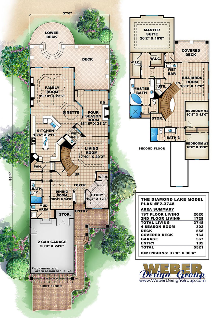 Diamond Lake House Plan Weber Design Group Naples FL