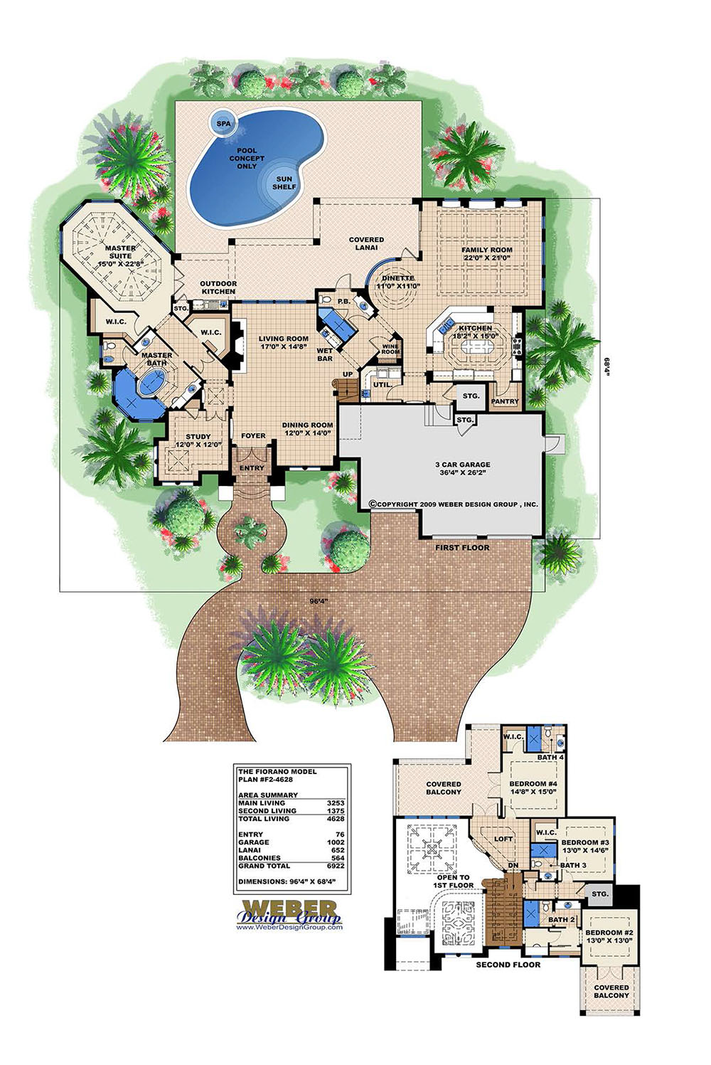 Fiorano house plan weber design group for Weber house plans