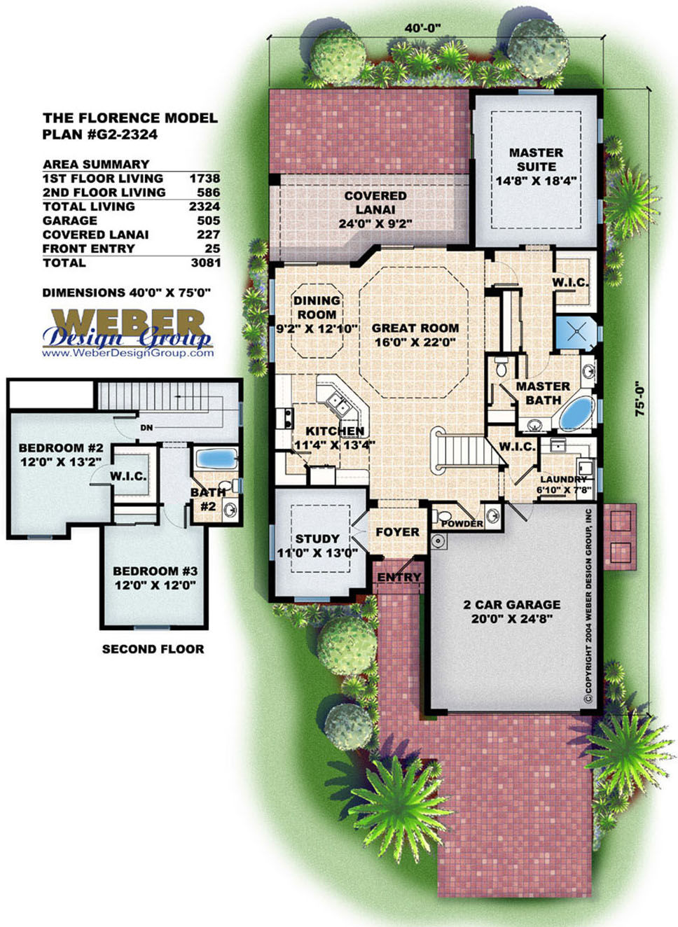 Florence home plan weber design group naples fl for Weber design