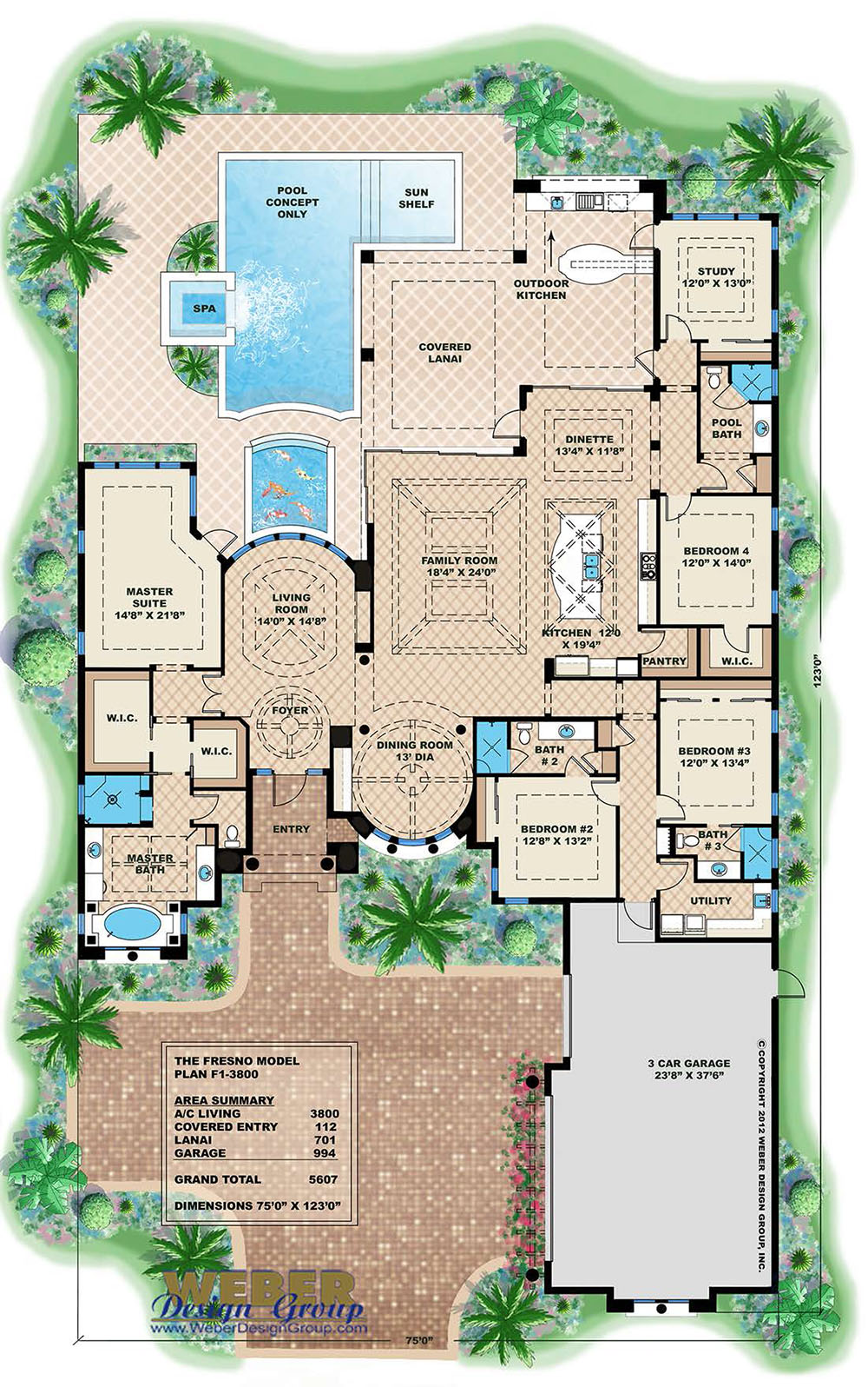 Seascape house plan weber design group for Weber design