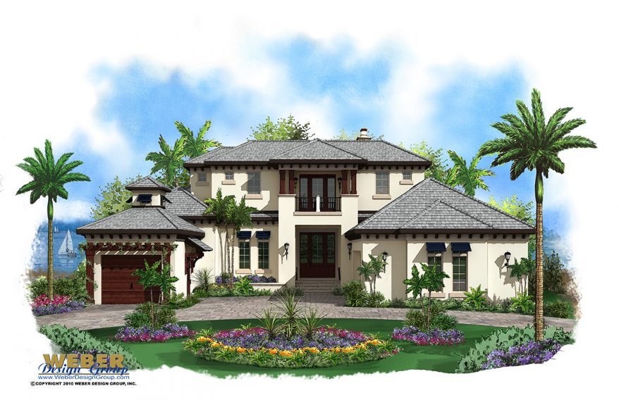 Caribbean House Plan 2 Story Coastal