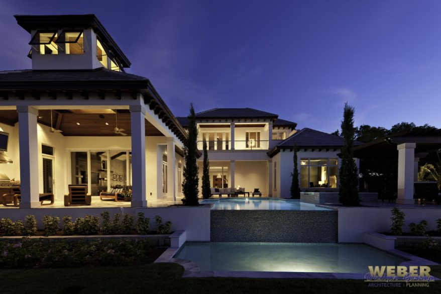 Caribbean house plan 2 story coastal contemporary floor plan for Modern transitional house plans