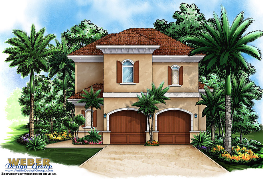 Small 2 story house floor plan with 2 car garage for Small two car garage