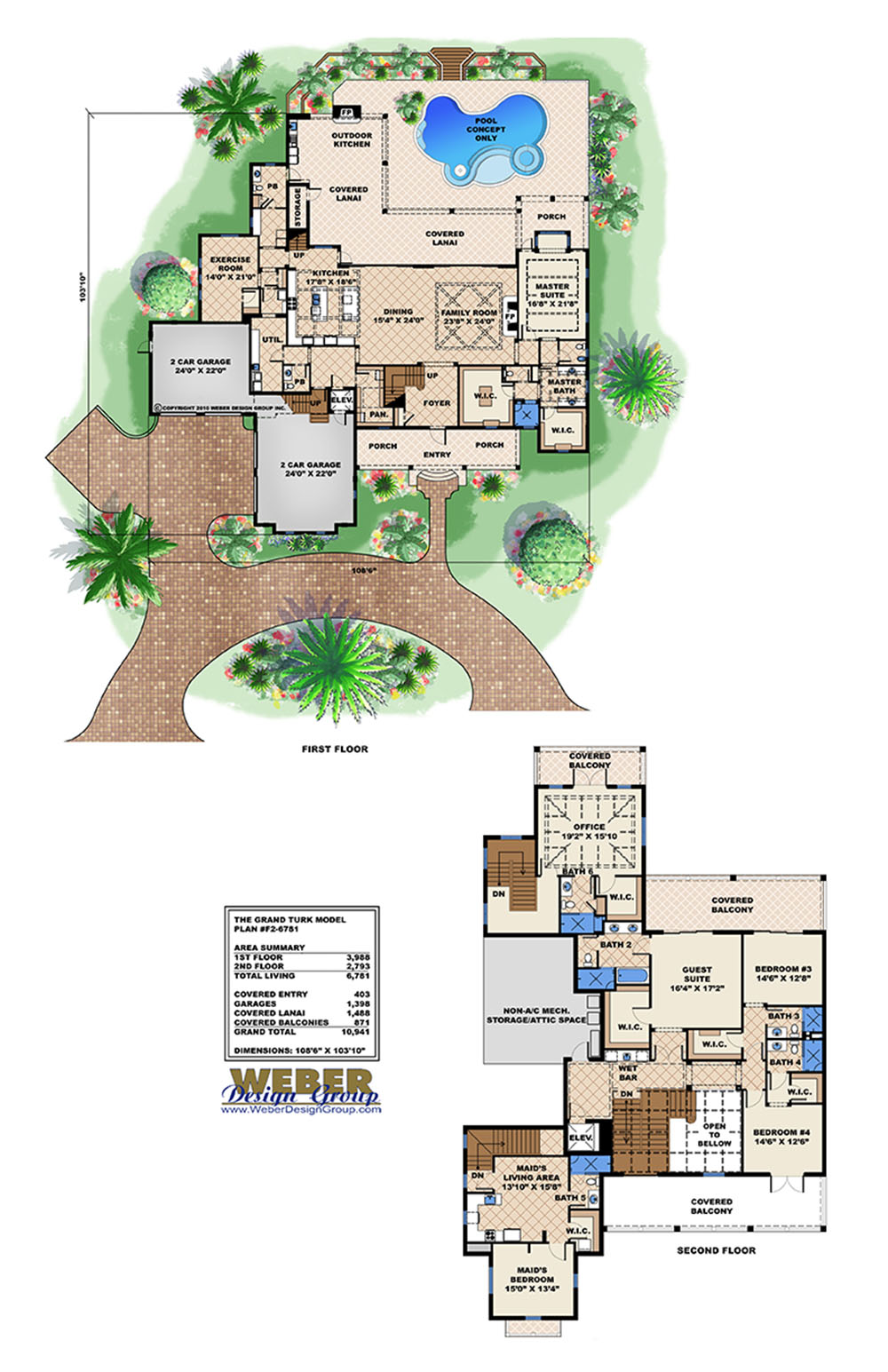 Luxury house plans weber design group inc stock for Weber house plans