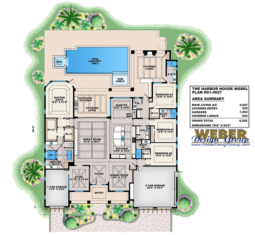 Cape sabal house plan weber design group for Weber design