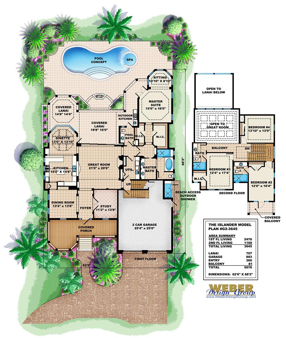 Islander House Plan Weber Design Group Naples Fl