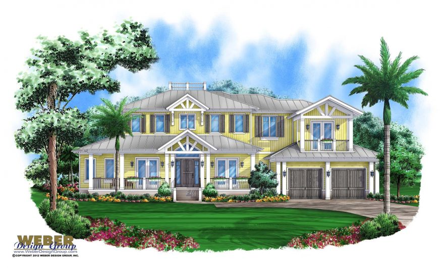 Coastal house plan old florida style key west home floor plan for Key west style house designs