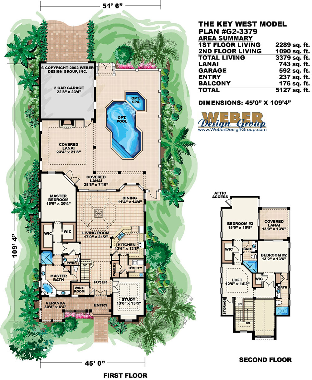 Key West House Plan Weber Design Group Naples Fl