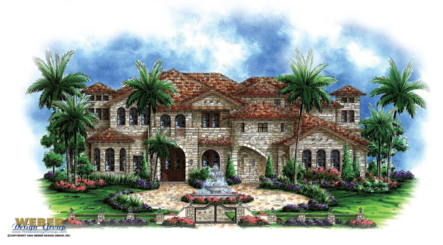 Luxury house plan andalusian castle home floor plan with for Luxury tuscan homes