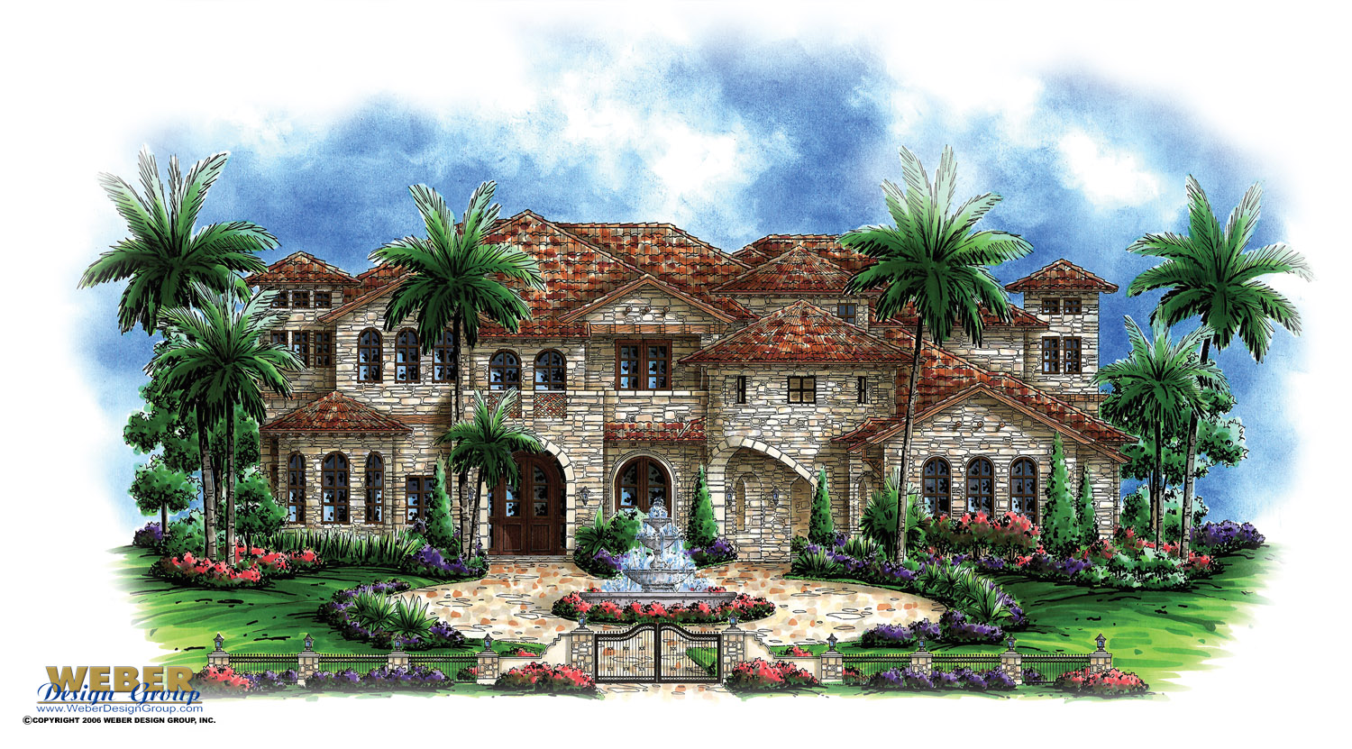 Luxury house plan andalusian castle home floor plan with Tuscan home floor plans