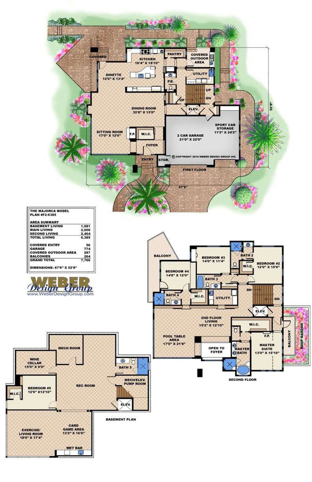 Majorca House Plan  sc 1 st  Weber Design Group & House Plans with Basement - Homes with Full u0026 Walkout Basements