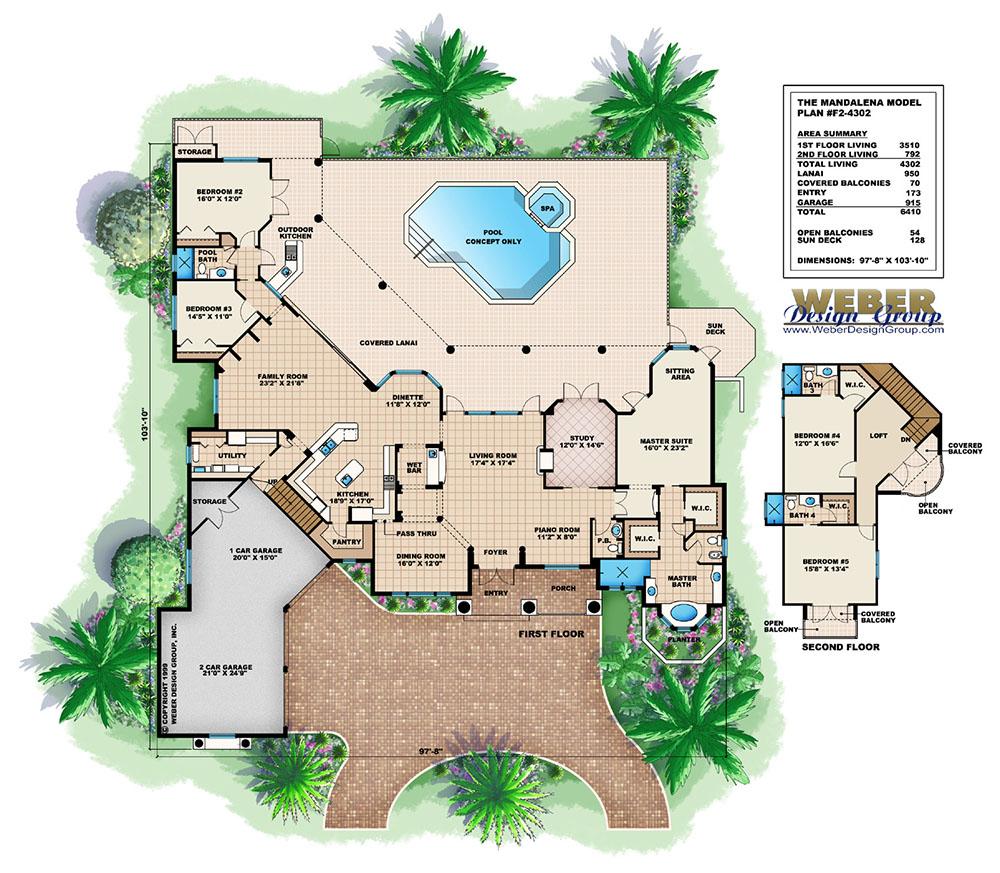 Mandevilla House Plan Weber Design Group