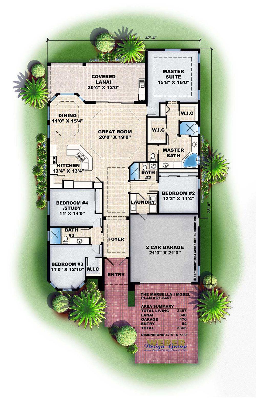 Marbella i home plan weber design group naples fl for Weber designs