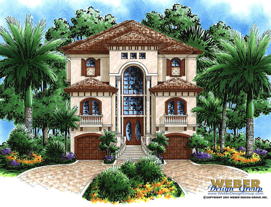 Mediterranean house plans luxury mediterranean home floor for Beach house plans mediterranean