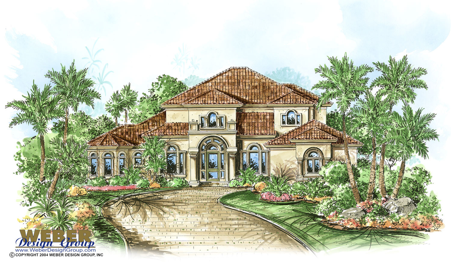 Mediterranean house plan 2 story coastal mediterranean for Mediterranean mansion floor plans