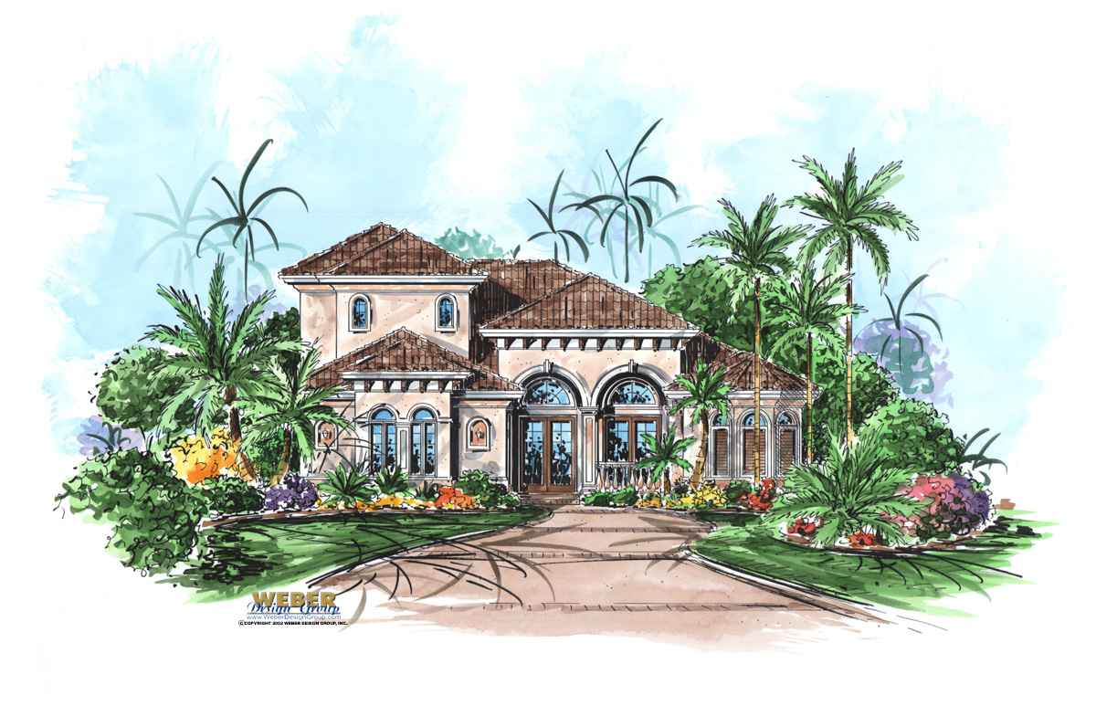 Mediterranean house plan coastal mediterranean floor plan for Luxury style house plans