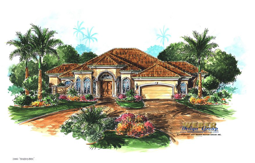 Mediterranean House Plan: Coastal Mediterranean Home Floor