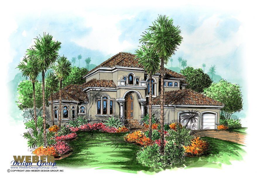 Mediterranean house plan 2 story coastal california style for Two story mediterranean house plans