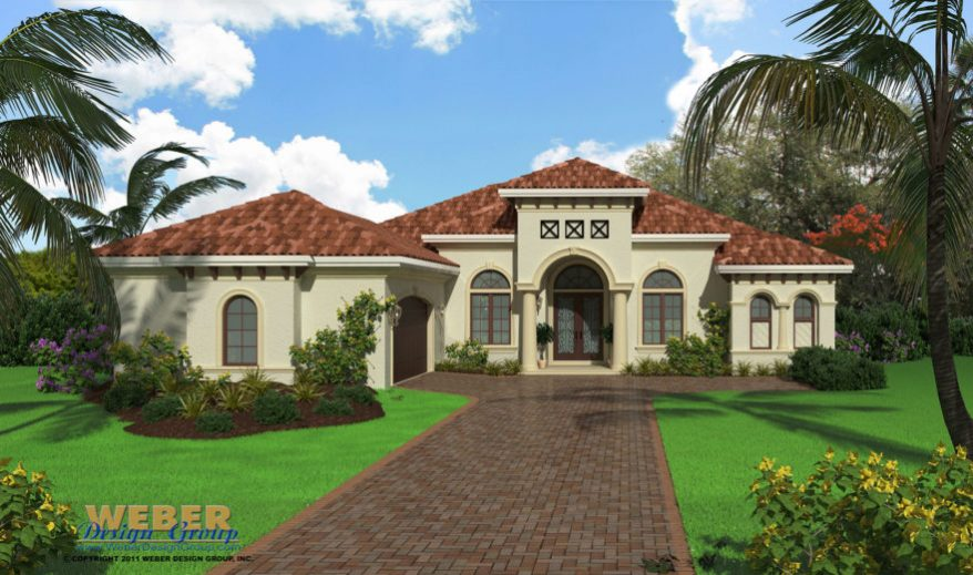 Mediterranean House Plan Small Home Floor Plan With