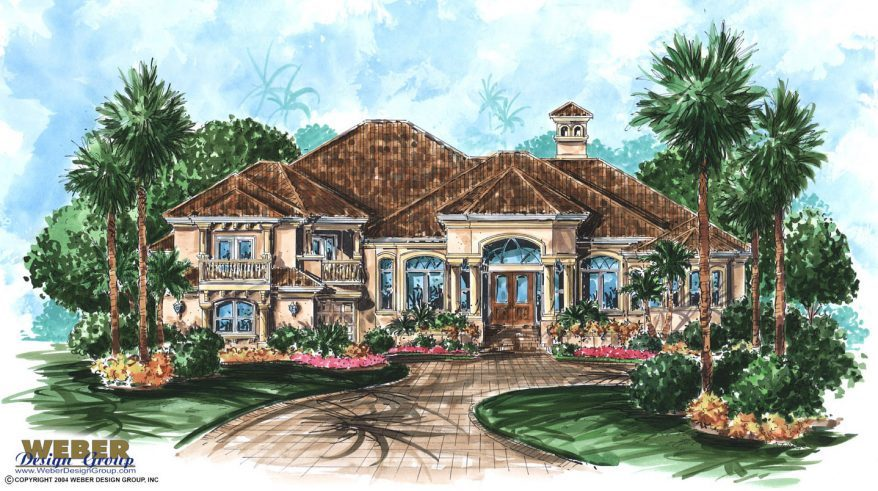 Mediterranean house plan 2 story mediterranean tuscan for Two story mediterranean house plans